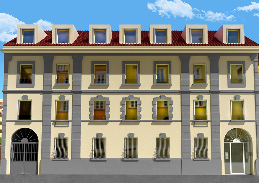 Via Sanremo 9 - Render - Facciata strada